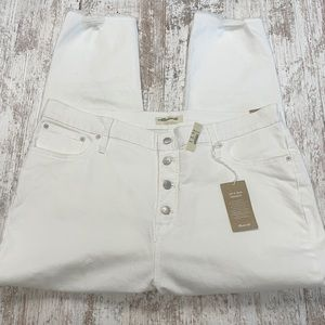 NWT Madewell White The Perfect Vintage Crop Jean's